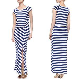 Ella Moss Barbara Striped maxi dress